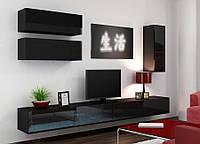 VIGO XIII Современная Гостиная стенка черный/черный глянец CAMA
