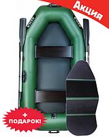 Двухместная надувная лодка Ладья ЛТ-250ЕВБ. Гребная;
