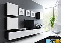 VIGO XXII Современная Гостиная стенка черный/белый глянец CAMA