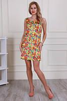 Красивое молодёжное  платье свободного кроя из микромасла