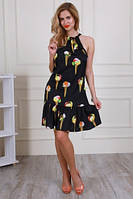 Женское летнее платье из шелка.