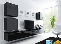 VIGO XXII Современная Гостиная стенка черный/черный глянец CAMA