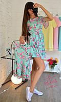 Платье с поясом в цветочный принт для мамы и доченьки