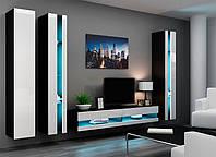 VIGO NEW VI Современная Гостиная стенка черный/белый глянец CAMA
