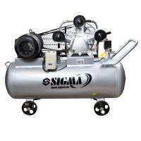 Компрессор ременной трехцилиндровый 380В 5.5кВт 865л/мин 10бар 200л Sigma (7044761)