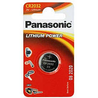Батарейка Panasonic CR 2032 BLI 1 LITHIUM (CR-2032EL/1B)