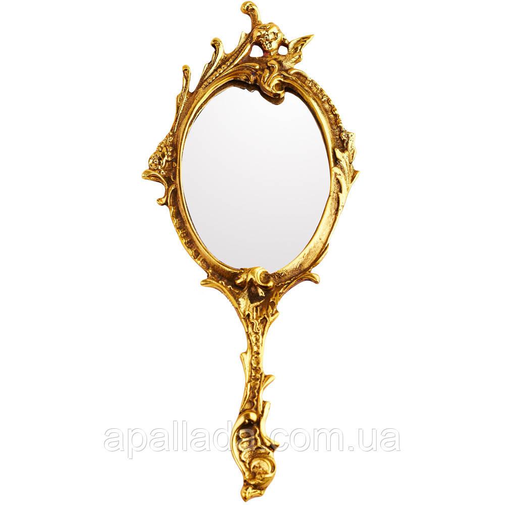 Зеркало бронзовое декоративное, 30*12 см