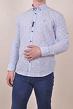 Рубашка мужская (натуральный хлопок, цвет голубой) MCL 25535 Размер:46,52