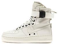 Мужские высокие кроссовки Nike Special Field Air Force 1 White (Найк Аир Форс) белые