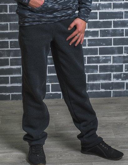 Мужские утеплённые спортивные штаны, темно-серые