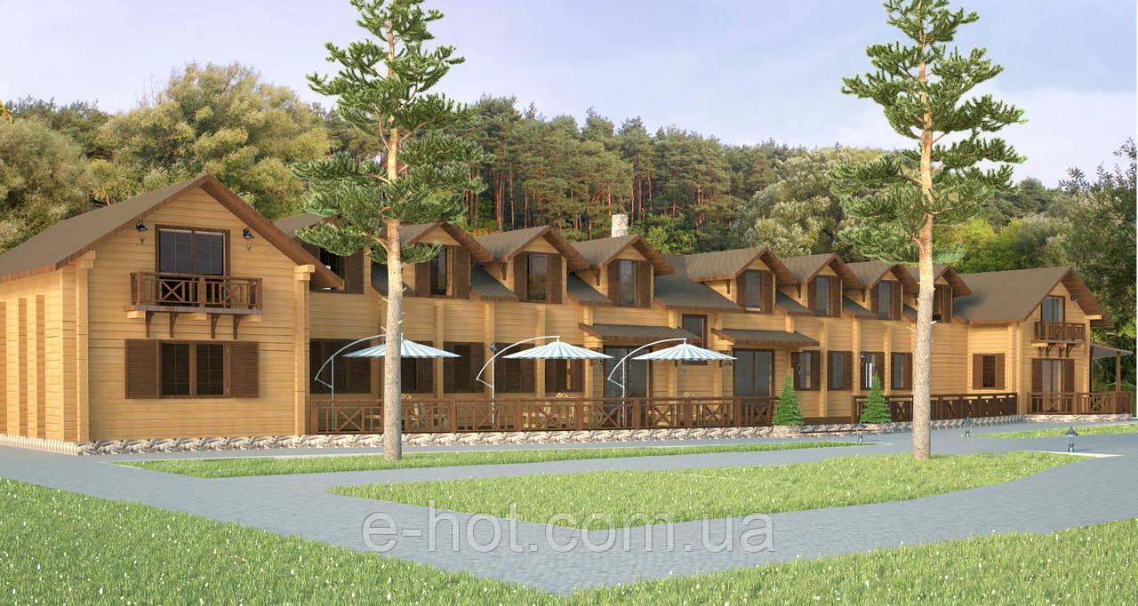 Проектирование гостиницы из клееного бруса
