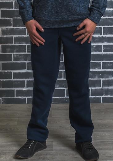 Мужские утеплённые спортивные штаны, темно-синие