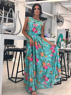 Новинка! Платье нарядное с цветочной расцветкой 42-48