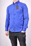 Рубашка мужская стрейчевая цв.электрик  (Slim Fit) G-PORT 455 Размер:46
