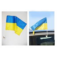 Флаг автомобильный на флагштоке (Украина)