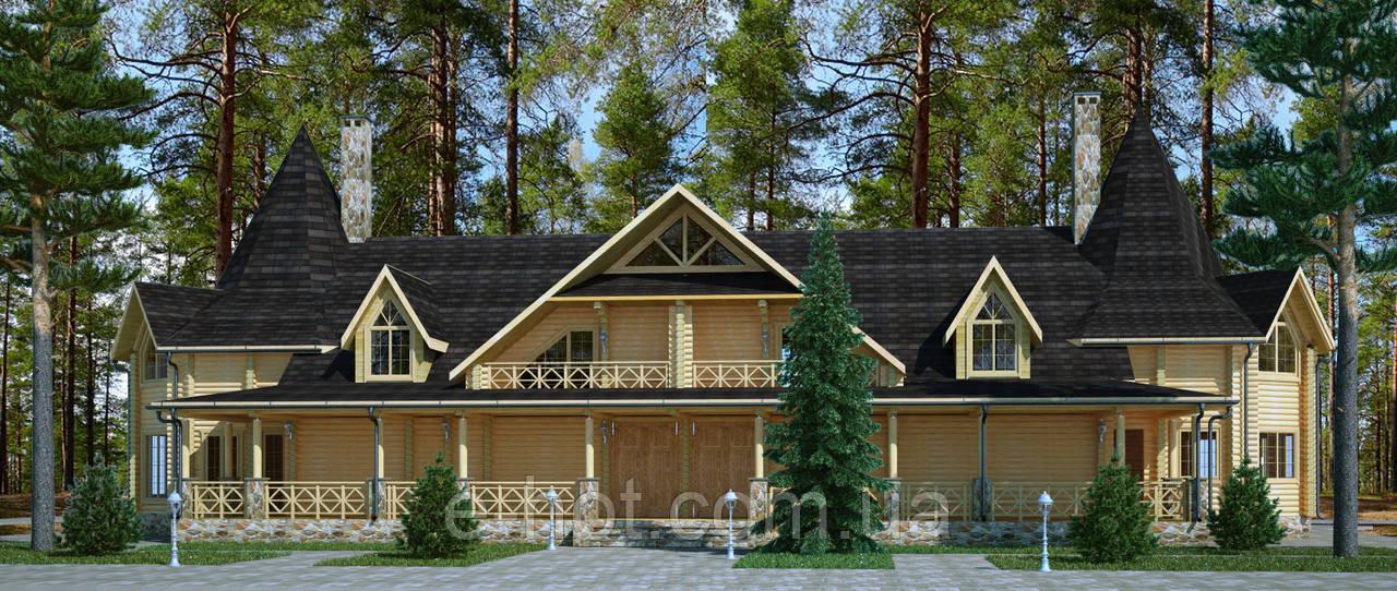 Проектирование гостиницы из профилированного бруса