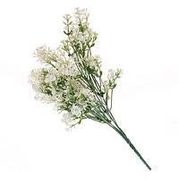 Белая искусственная трава для декора 35см