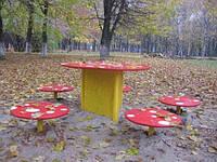 Комплекс столиков «Мухоморчики», детская площадка, фото 1