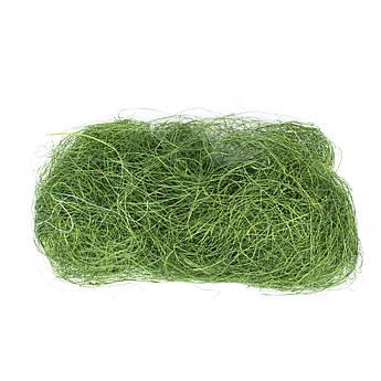 Наполнитель для подарка Сизаль зеленого цвета 10 грамм