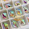 Пришивные ромбы (стекло)  Сrystal AB(11x19мм) 1шт