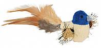 Игрушка Trixie Bird для кошек плюшевая с перьями, 8 см