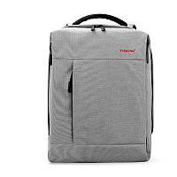 Рюкзак для ноутбука Tigernu-T-B3269 светло серый с USB портом, фото 1