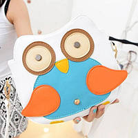 Модная женская сумка сова молочного цвета