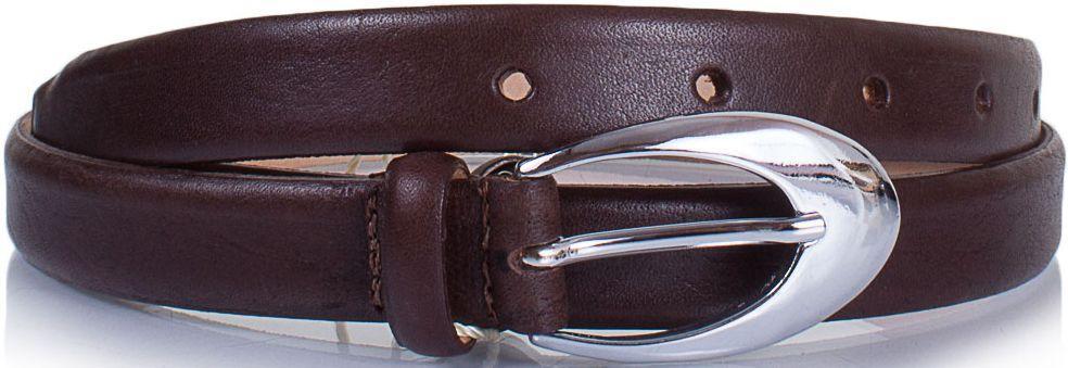 Женский кожаный ремень 2 см YSK коричневый