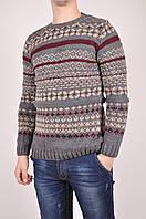 Свитер мужской вязаный (цв.серый/бордовый) SNLsnail 2046 Размер:42,44,46