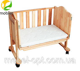 Приставная кроватка, кроватка для новорожденных приставная 84,5см х 52,5см х 73-88см, фото 2
