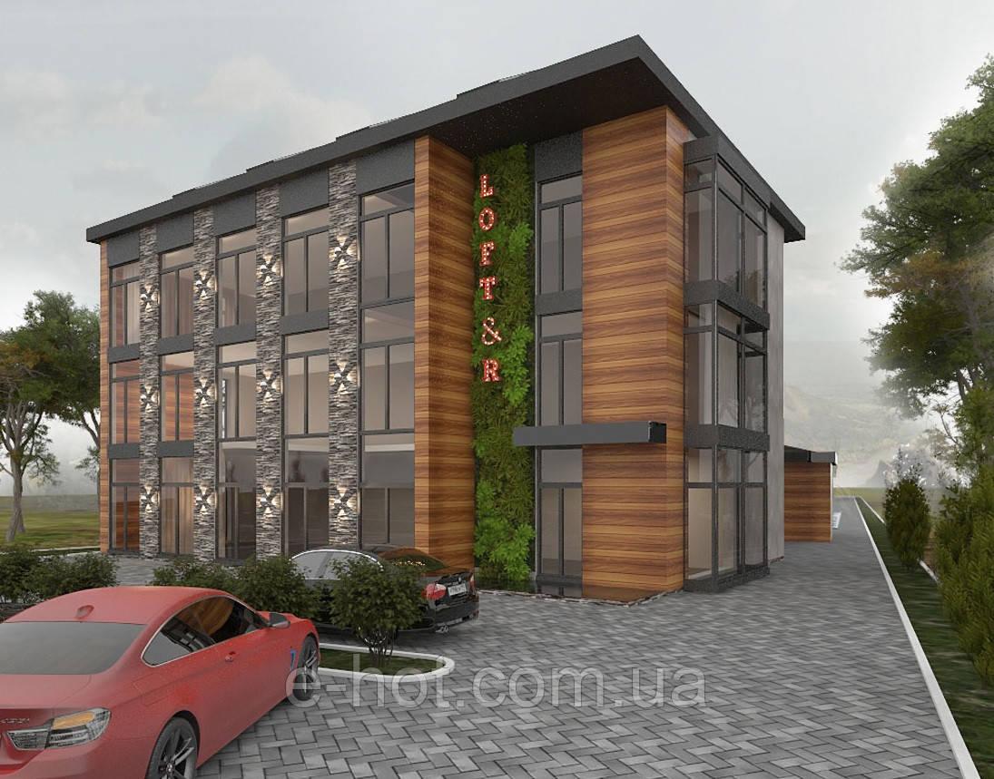 Проектирование отеля из кирпича