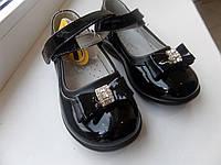 CLIBEE-504 WHITE/black Туфли девочка