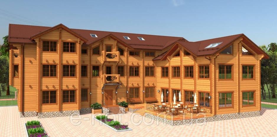 Проектирование отеля из профилированного бруса