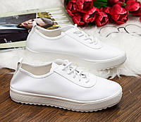 Женские белые кроссовки-кеды