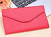 Женский красное портмоне-чехол для телефона(клатч)