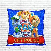 Детская подушка, Щенячий патруль,скай,синяя