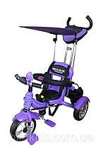 Детский велосипед Mars trike Надувные колеса фиолетовый