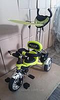 Детский велосипед Mars trike Надувные колеса Салатовый