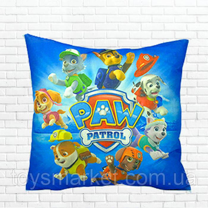 Детская подушка, Щенячий патруль,герои,синяя