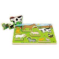 Пазл Hape Животные Фермы умеющие стоять (E1450)