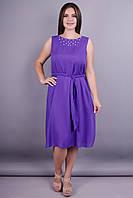 Сопрано. Нарядное летнее платье плюс сайз. Пурпур.