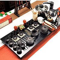 Набор китайской чайной церемонии керамический подарочный 34 предметов(с электрическим чайником) 9479