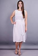 Сопрано. Красивое летнее платье больших размеров. Белый.