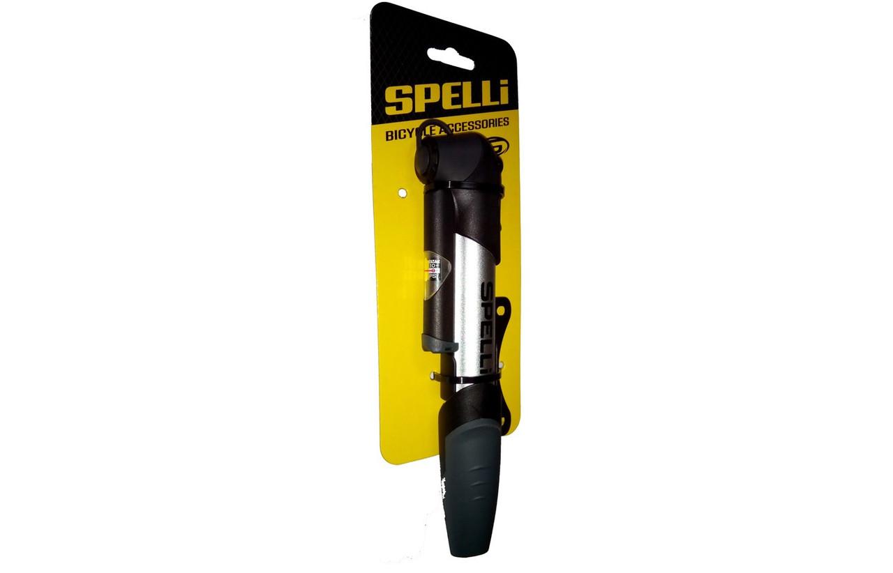 Насос для велосипеда Spelli SPM-1961A с манометром