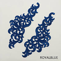 Кружевной фрагмент (лейс) Лаура синий, 8*21 см. Цена за 1 шт