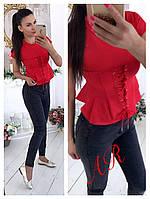 Женская красивая блуза с имитацией корсета, 4 цвета