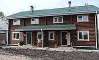 Проектирование многоквартирного дома из оцилиндрованного бревна