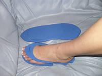 Тапочки одноразовые вьетнамки для педикюра/солярия (пенелон 2,5 мм, цветные)
