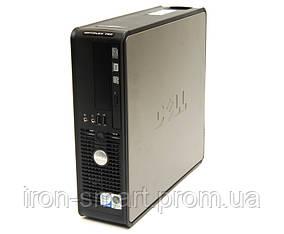 Б/У Системный блок: Dell Optiplex 760, Black, Slim, Core 2 Duo E7400 (2 x 2,8 GHz), 3Gb DDR2, 160 Gb, DVD-Rom, VGA/DP, GeForce 210, 2/6xUSB2.0