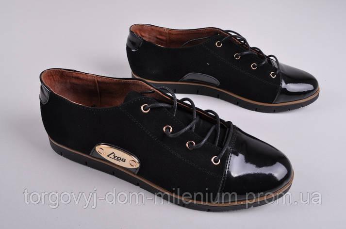 Туфли женские из натуральной замши с лаковыми вставками YDG Bellini 316 Размер:37, фото 2